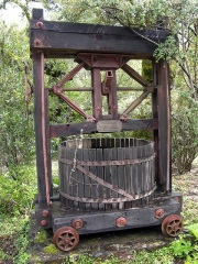old press, probably older than the winery