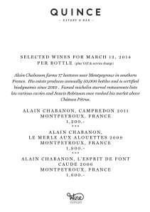Montperoux wines