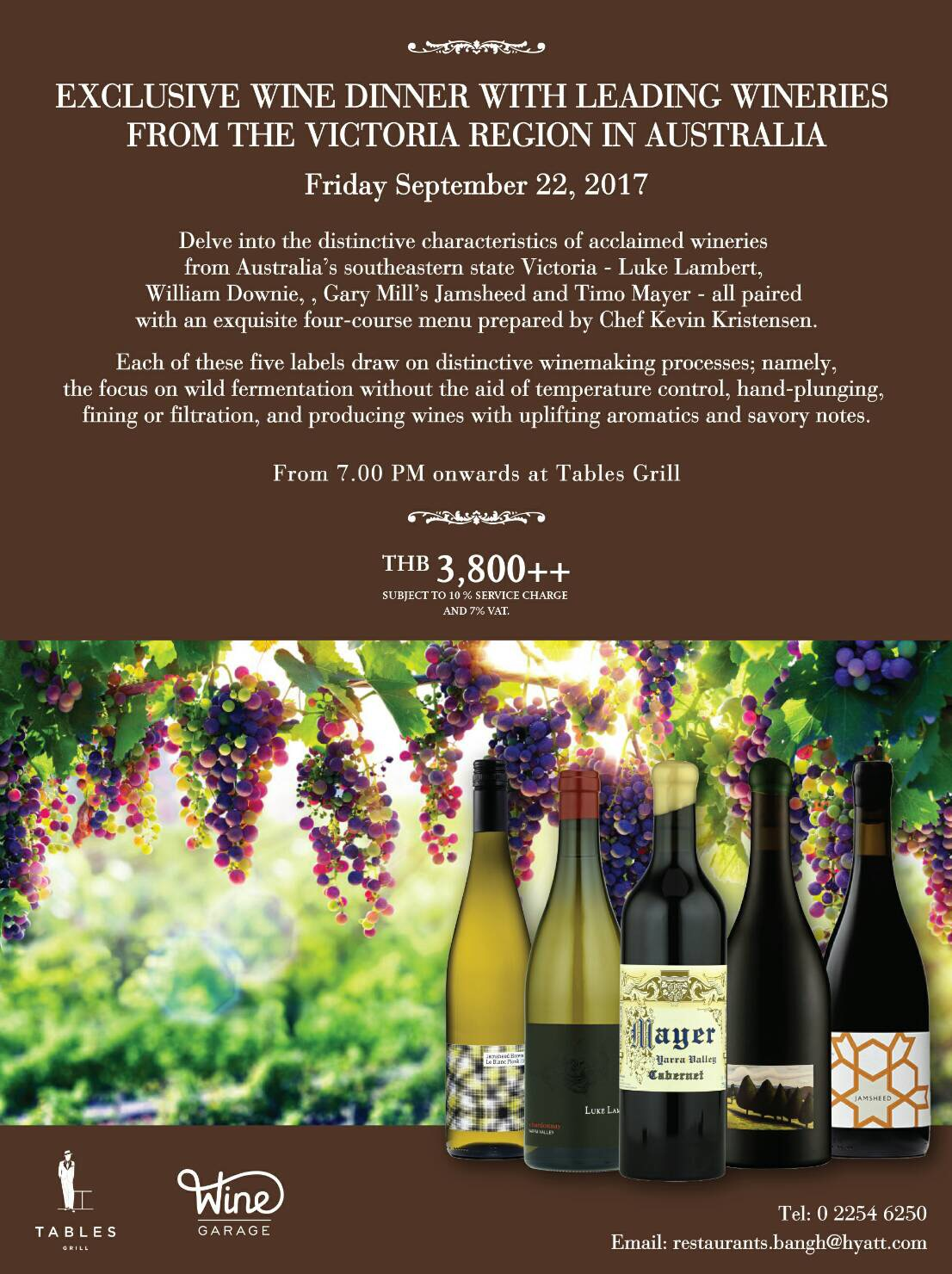 WG Grand Hyatt Tables Wine Dinner Sep 22 2017