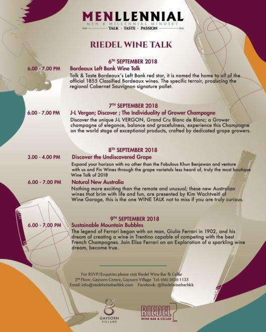 Riedel Les Vendanges Wine Talk 2018